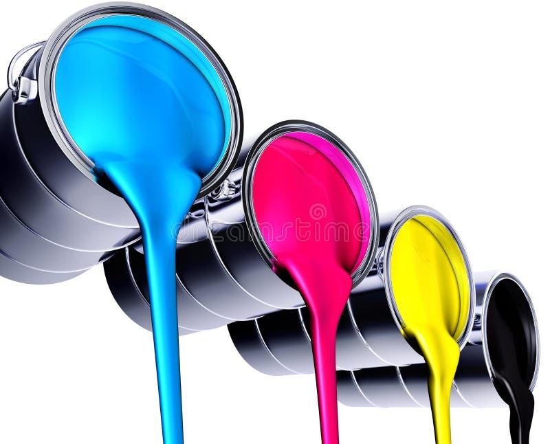 Farbentöpfe stock abbildung