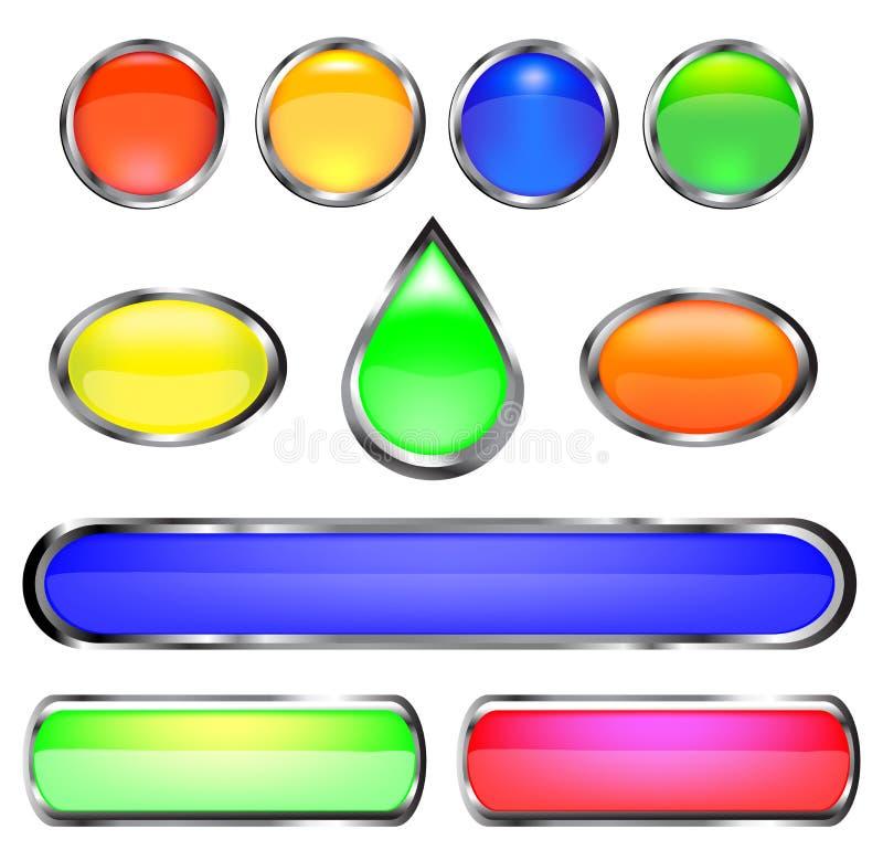 Farbentasten vektor abbildung