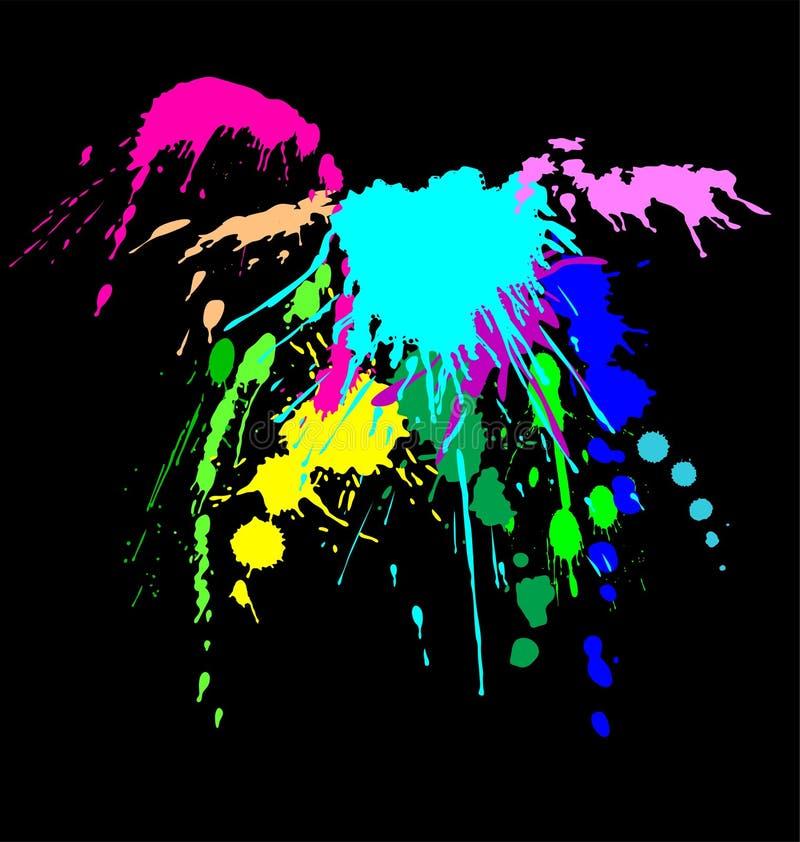 Farbentintenspritzen lizenzfreie abbildung