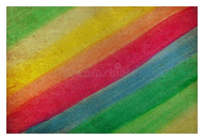 Farbenwasser auf altem Papier stock abbildung