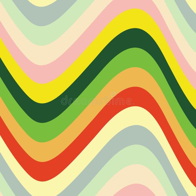 Farbenwellen vektor abbildung