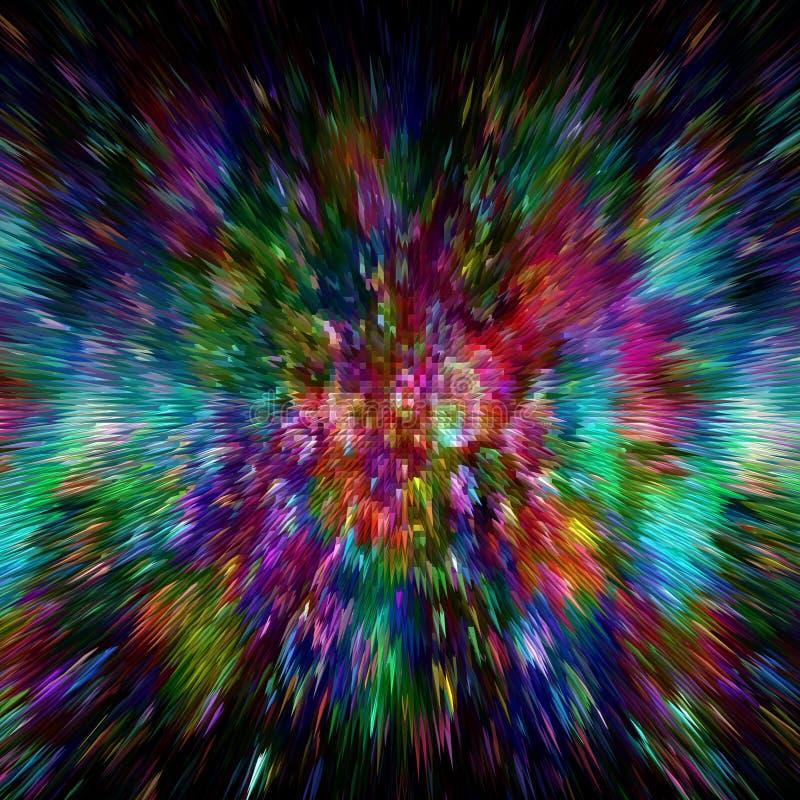 Farbexplosionshintergrund Zoom-Unschärfe stock abbildung