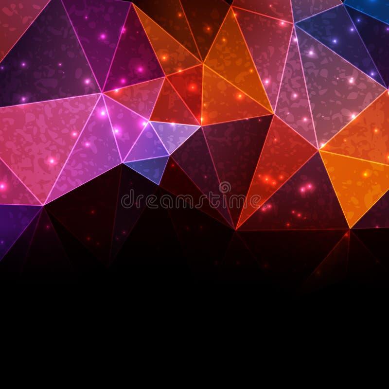 Farbgeometrische Schablone stock abbildung