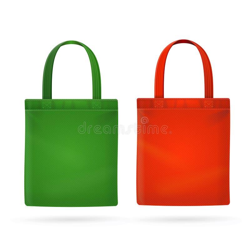 Farbgewebe-Stoff-Taschen-Totalisator Vektor stock abbildung