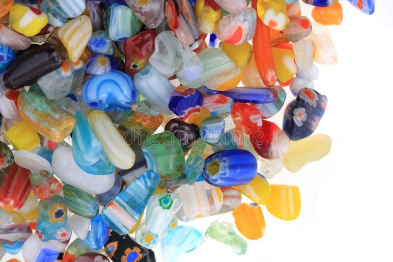 Farbglasperlebeschaffenheit stockbild