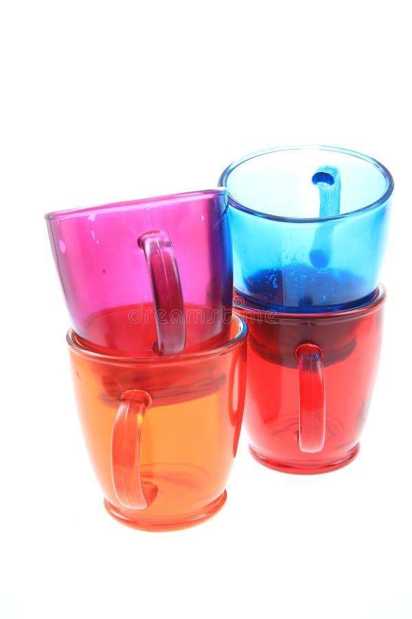 Farbglastöpfe lizenzfreies stockfoto