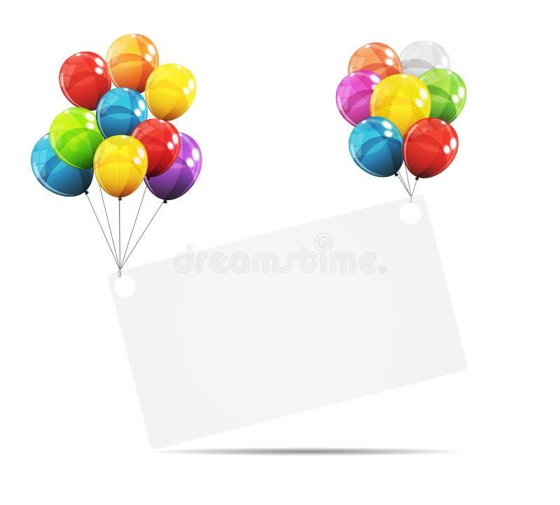Download Farbglatte Ballon-Geburtstags-Hintergrund-Vektor-Illustration Vektor Abbildung - Illustration von partei, hell: 90231650