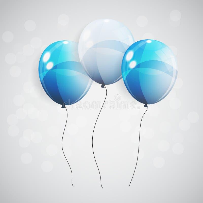 Farbglatte Ballonhintergrund-Vektorillustration stock abbildung