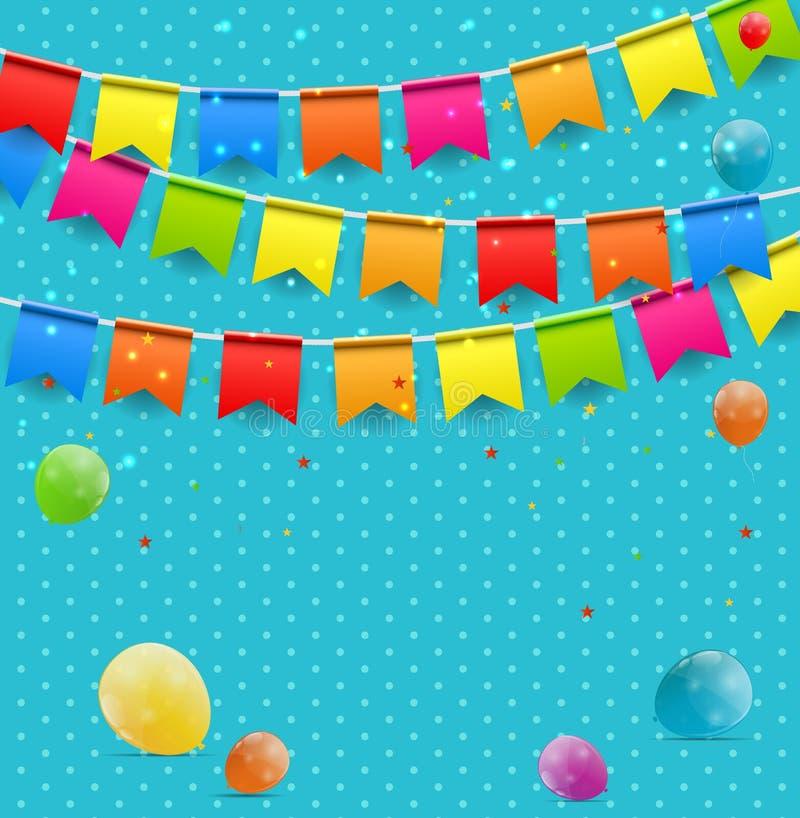 Farbglatter Ballon-Glückwunschkartehintergrund vektor abbildung