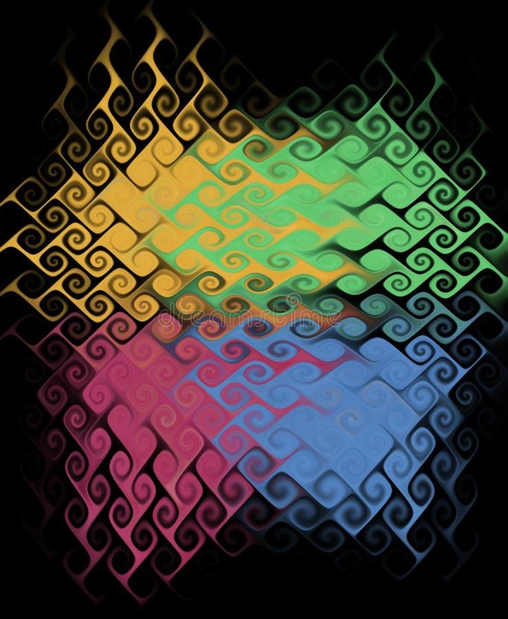 Farbige abstrakte Beschaffenheit. stock abbildung