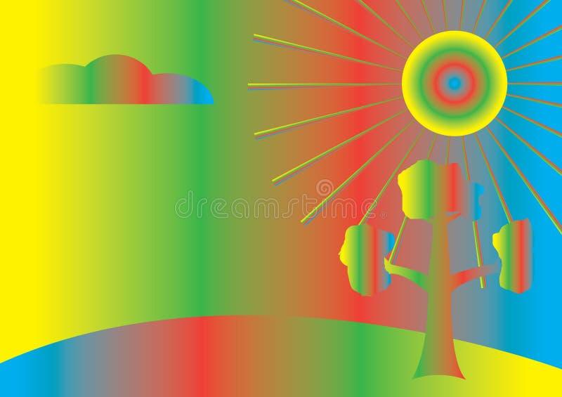 Download Farbige Abstraktion vektor abbildung. Illustration von hintergrund - 9093648