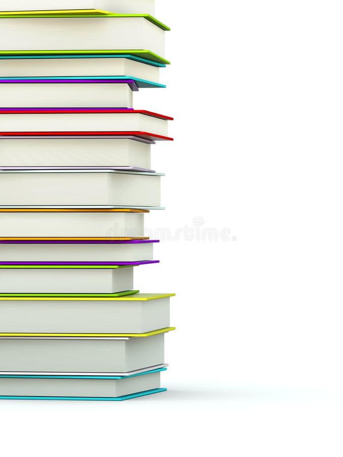 Farbige Bücher stock abbildung