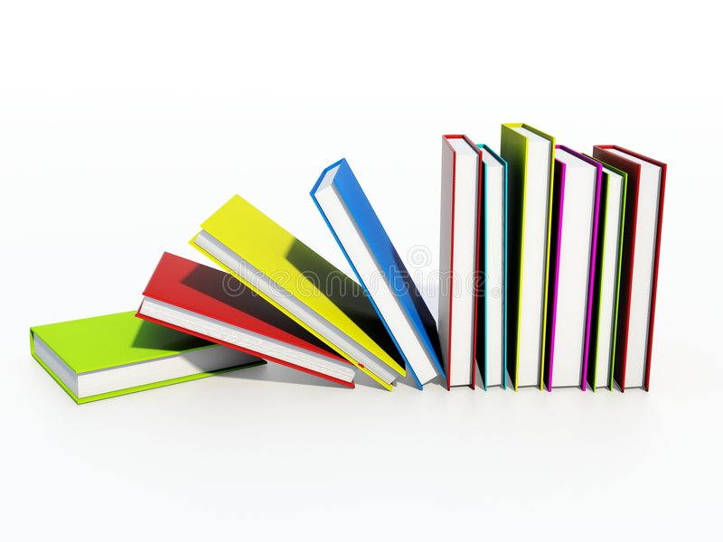Farbige Bücher vektor abbildung