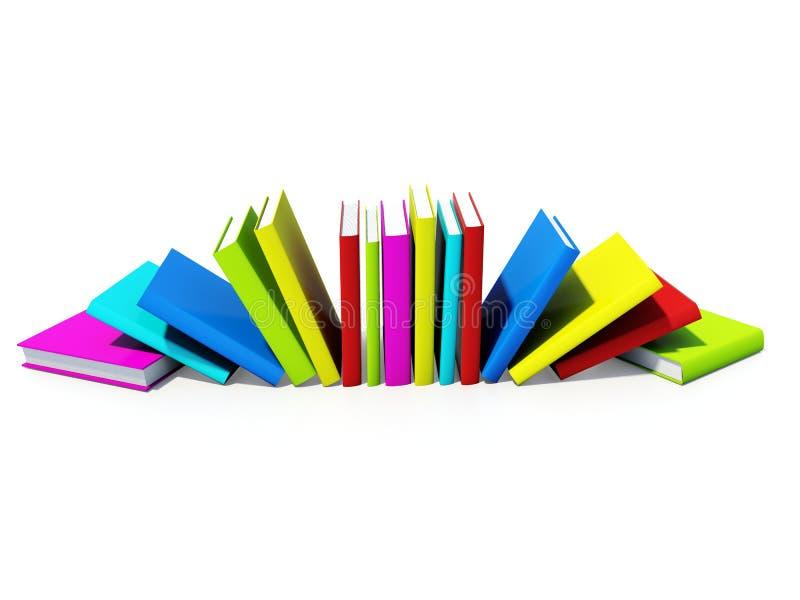 Farbige Bücher lizenzfreie abbildung