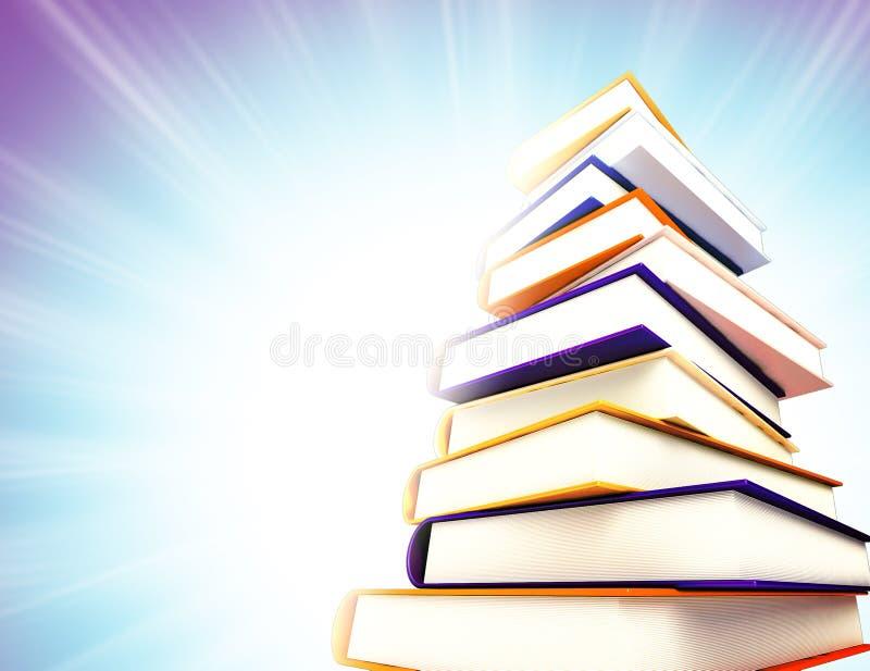 Farbige Bücher Auf Hintergrund Stock Abbildung - Illustration von ...
