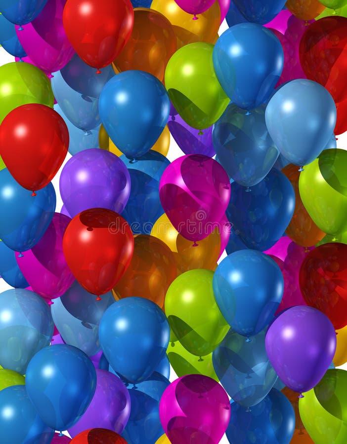 Farbige Ballone lizenzfreie abbildung