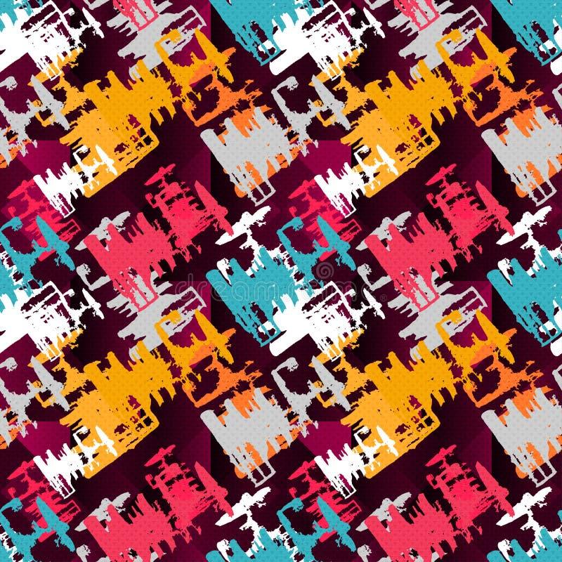 Farbige Beschaffenheits-Vektorillustration der Graffiti nahtlose stock abbildung