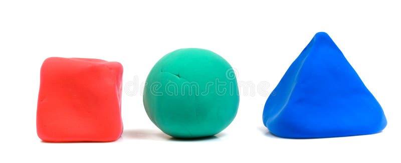 Farbige Blöcke des Lehms lizenzfreie stockfotografie