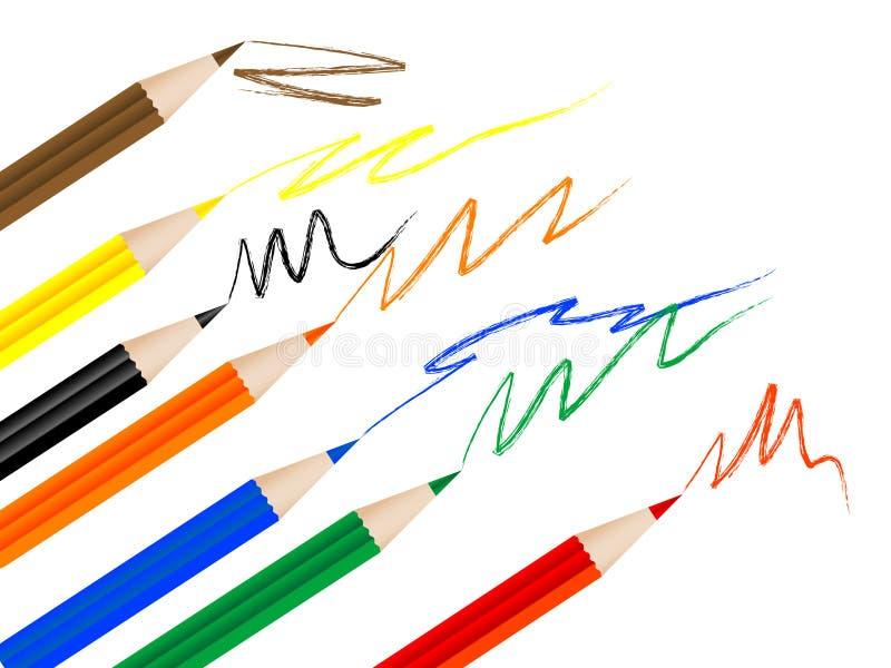 Farbige Bleistifte stock abbildung