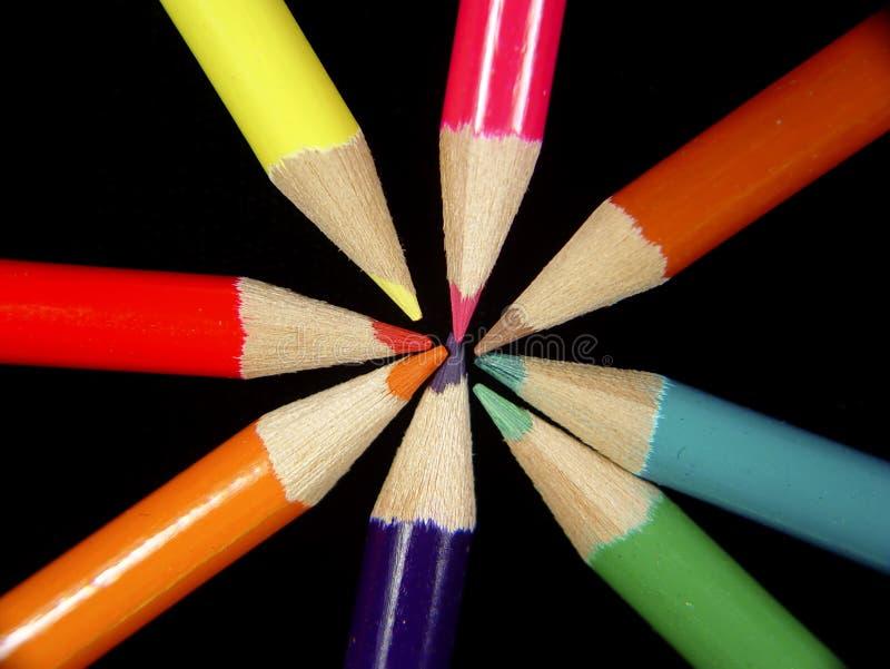 Farbige Bleistifte 2 lizenzfreies stockbild