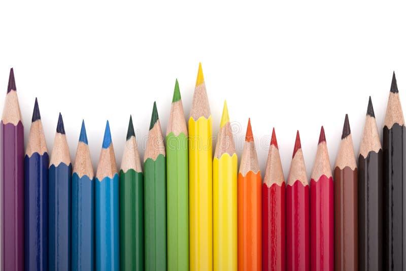 Farbige Bleistifte 5 stockfotografie