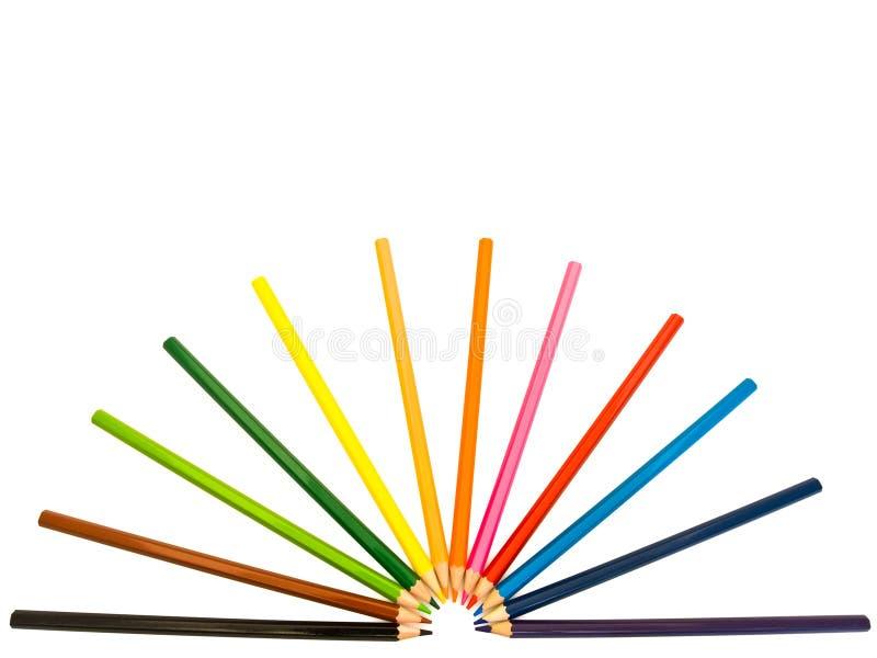 Farbige Bleistifte stockfoto