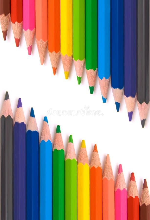 Farbige Bleistifte für Schule lizenzfreie stockfotos