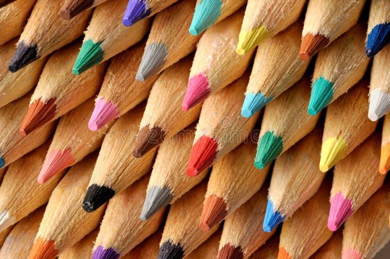 Farbige Bleistifte Makro lizenzfreie stockbilder
