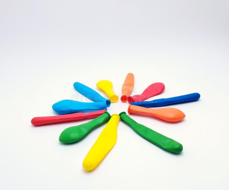 Farbige Blumenspielzeug Ballons für Kinder stockfoto