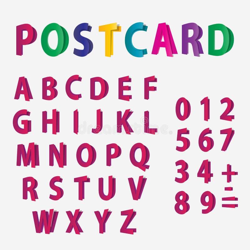 Farbige Buchstaben Des Alphabetes Und Der Zahlen Sehen Wie ...