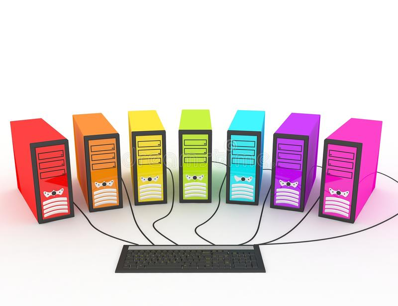 Farbige Computer stock abbildung