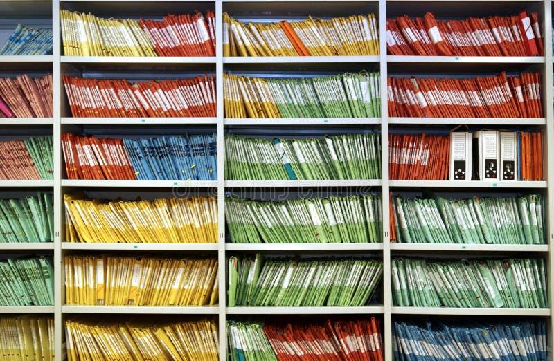 Farbige Dateien lizenzfreie stockfotografie