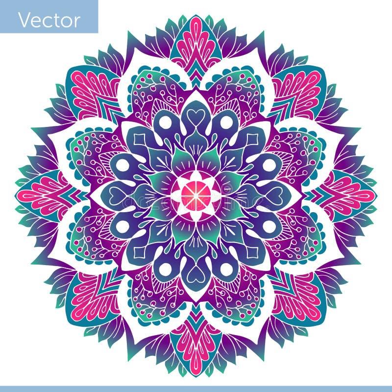 Farbige dekorative Mandala Orientalisches Muster stock abbildung