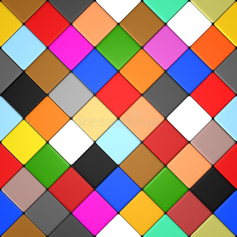 Download Farbige Diamantfliesen stock abbildung. Illustration von dekoration - 26351505