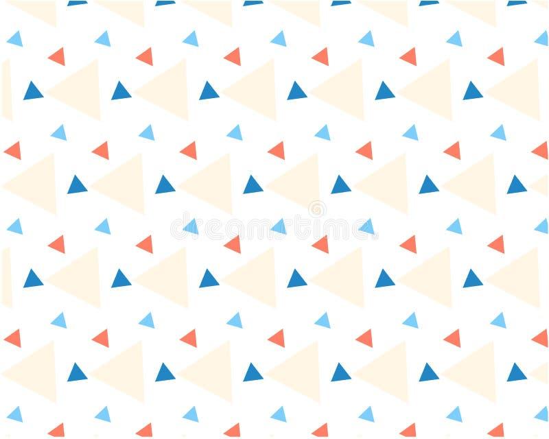 Farbige Dreiecke des dynamischen Musters der unterschiedlichen Größe auf weißem Hintergrund vektor abbildung