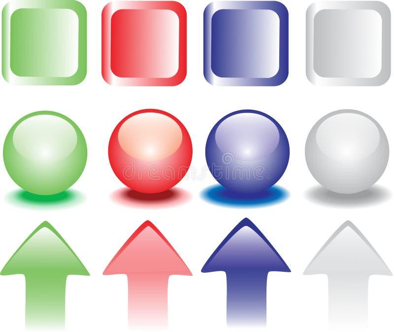 Farbige Druckknöpfe vektor abbildung