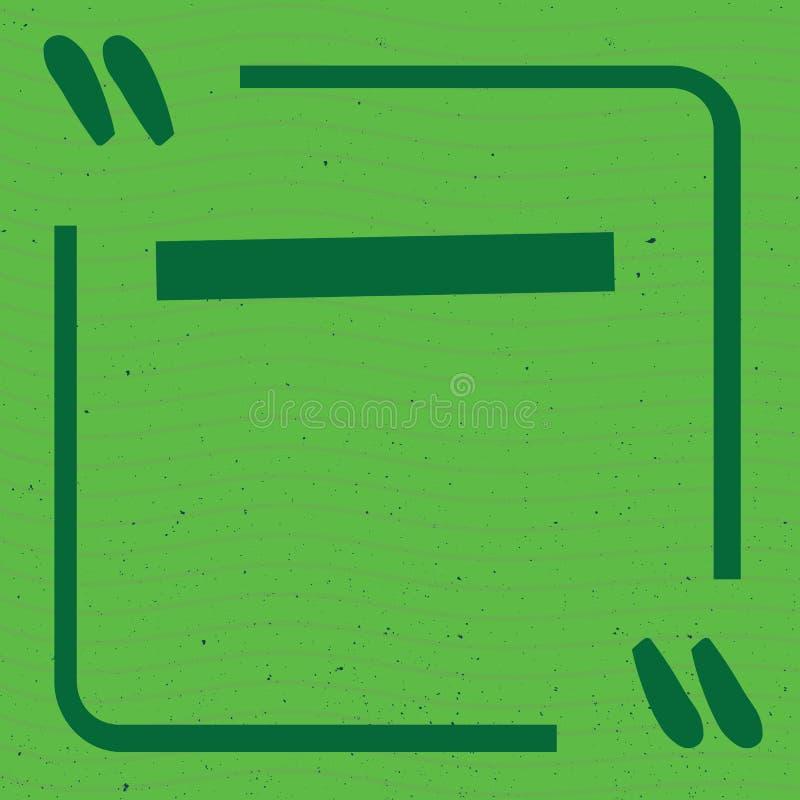 Farbige eingestellte Vektorillustration der Zitatrahmen Schablonen Denken Sie und sprechen Sie mit Zitatkennzeichen lizenzfreies stockbild