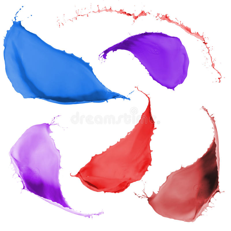 Farbige Farbe spritzt lizenzfreies stockbild