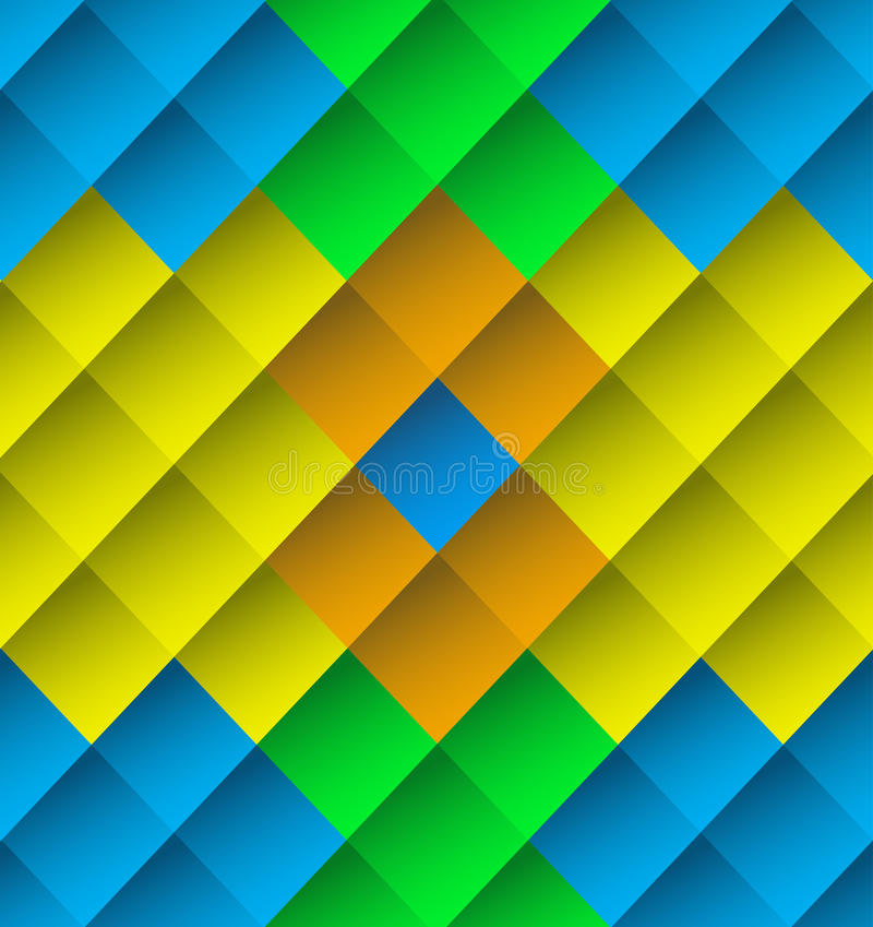 Farbige Farbfliesenhintergrund-Beschaffenheitstapete vektor abbildung