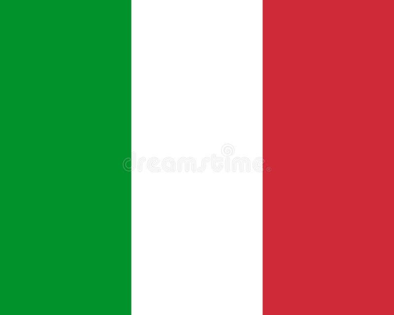 Farbige Flagge von Italien stock abbildung