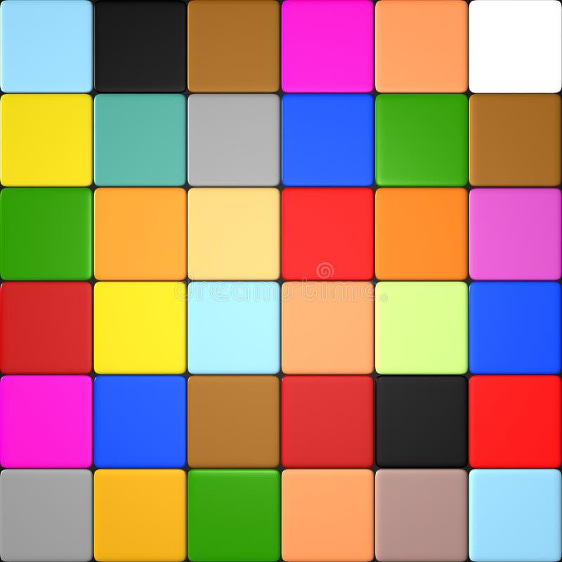 Farbige fliesen stock abbildung bild von dekoration 26351507 - Fliesen farbig ...