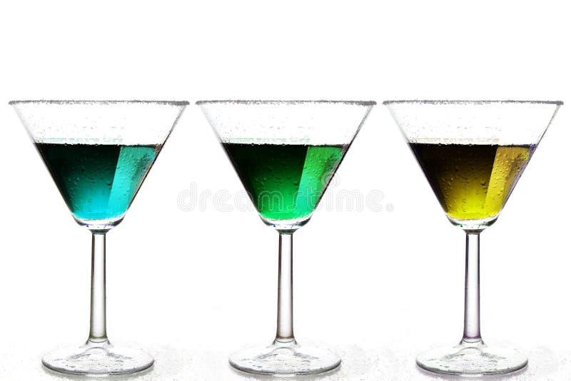 Farbige Getränke stockbild