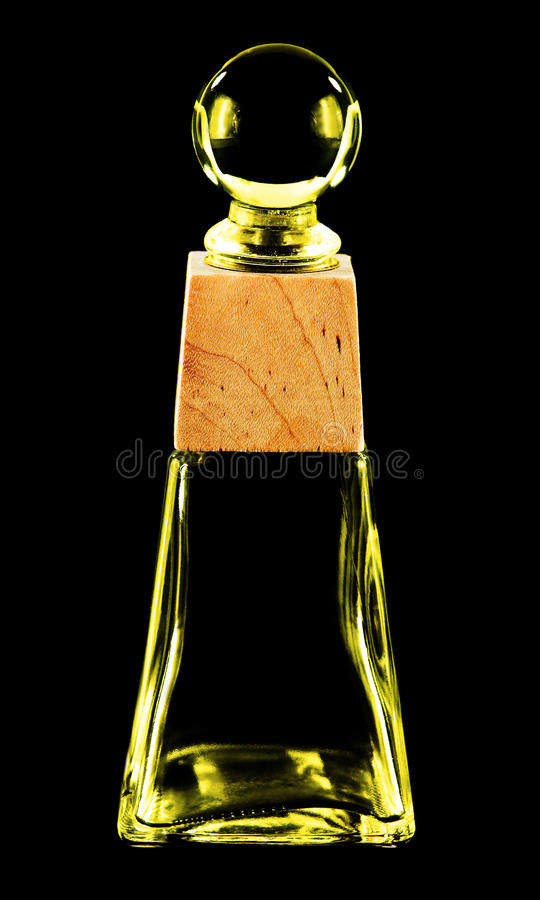 Farbige Glasflasche lizenzfreies stockfoto