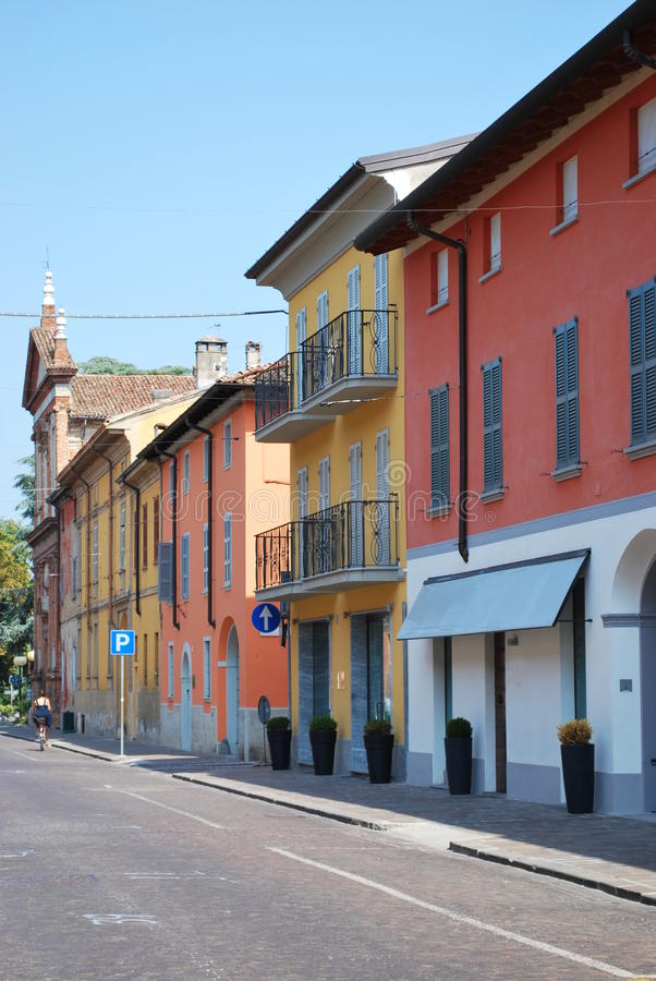Farbige Häuser lizenzfreie stockfotografie