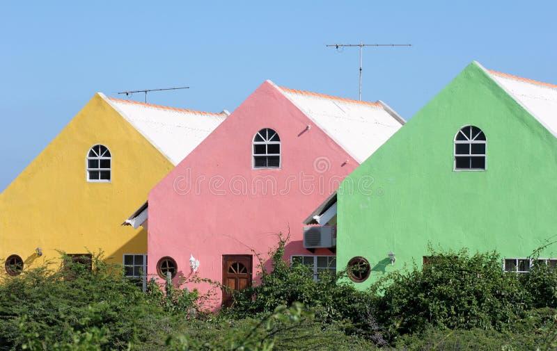 Farbige Häuser lizenzfreie stockbilder