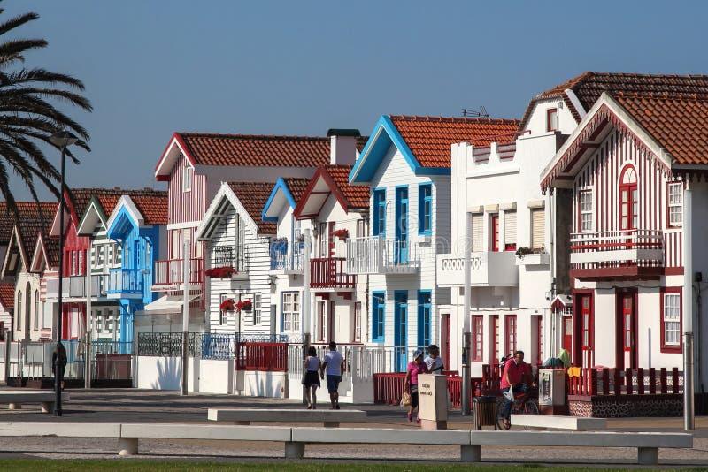 Farbige Häuser stockbilder