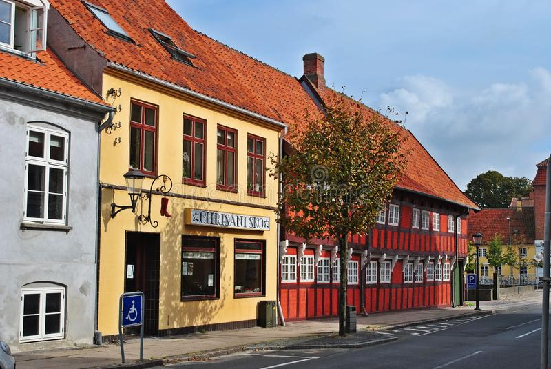 Häuser In Dänemark farbige häuser in dänemark stockbild bild haus anziehung