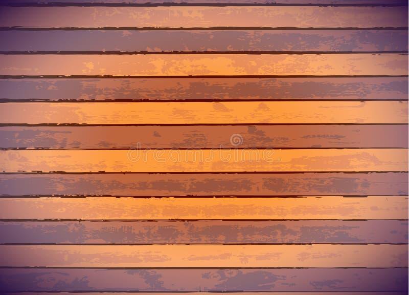 Farbige hölzerne Panels stock abbildung