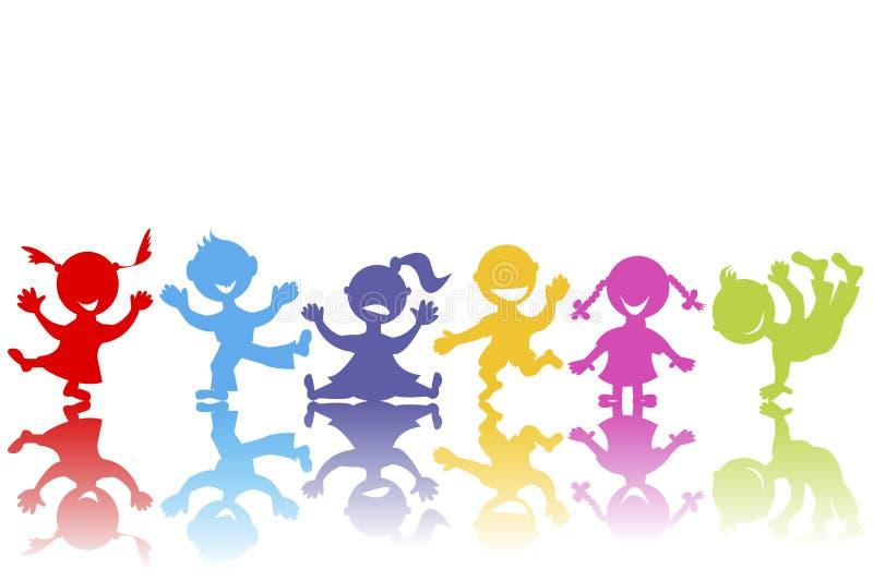 Farbige Hand Gezeichnete Kinder Vektor Abbildung - Illustration von ...
