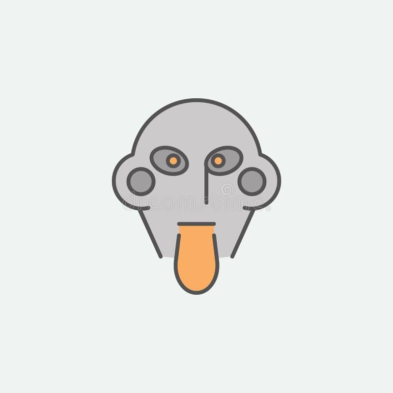 Farbige Ikone Clown-Halloween Maske Eine der Halloween-Sammlungsikonen für Website, Webdesign, mobiler App vektor abbildung